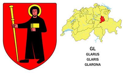 Cantoni della Svizzera: Glarona (Glarus, Glaris)