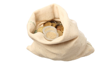 A sack filled with coins