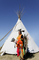 American Indian in Front of Tee Pee