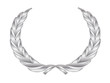 Silver Laurel Wreath (award trophy winner medal cup palm vector)