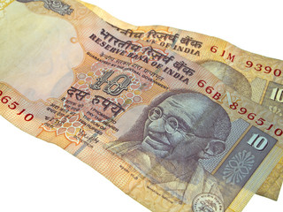 Two Indian bank notes