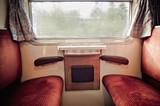 Inside of a nostalgic Train - 28547578