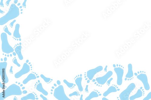 Baby Blue footprint Background
