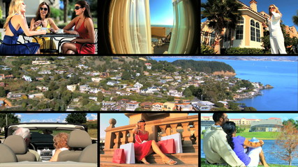 Montage of Living a Luxury Lifestyle