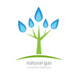 Logo tree natural gas # Vector