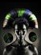Beautiful alien lady
