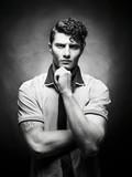 Stylish handsome men poster