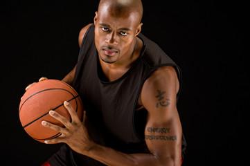 Powerful basketball player