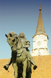 Statue of King Mathias in Cluj, Transylvania poster