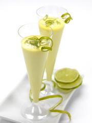 lemon mousse in glass