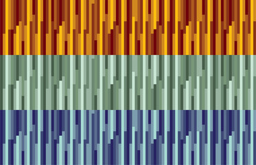 orange, green and blue stripes abstract background illustration