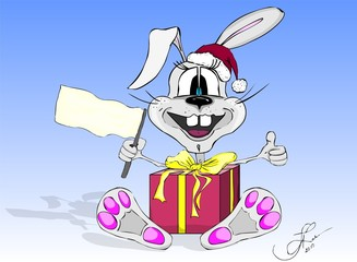 hare, rabbit, animal, celebrate, Christmas, New Year