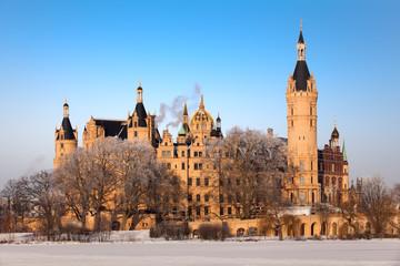 Schweriner Schloss im Winter