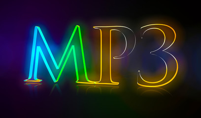 3D Typografie MP3