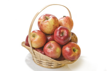 Apple food in a basket