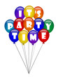 IT'S PARTY TIME (balloons celebration happy birthday christmas)