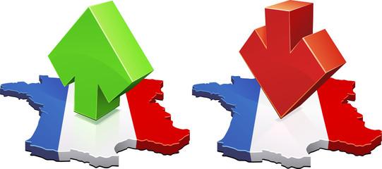 France à la la hausse et à la baisse (détouré)