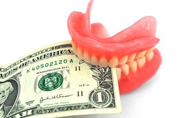 dentures and dollar