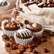 chocolate sweets with coffee beans