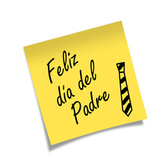 Post-it Feliz dia del Padre