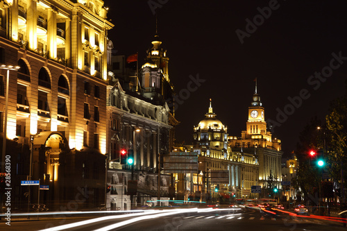 The Bund at night, Shanghai China
