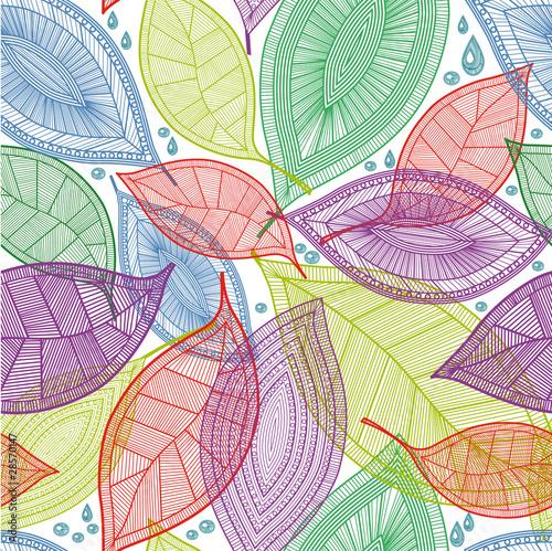 bezszwowe-streszczenie-kolor-lisci-wzor