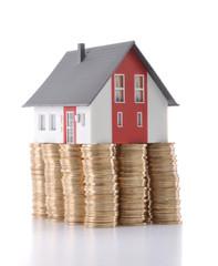 Saving to buy house concept.