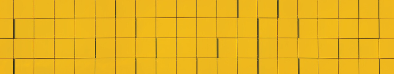 Yellow Natural Metallic Facade Panel Background Panorama