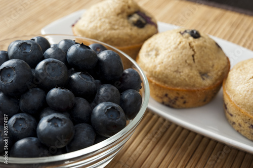 Blueberries and Blueberry Muffins