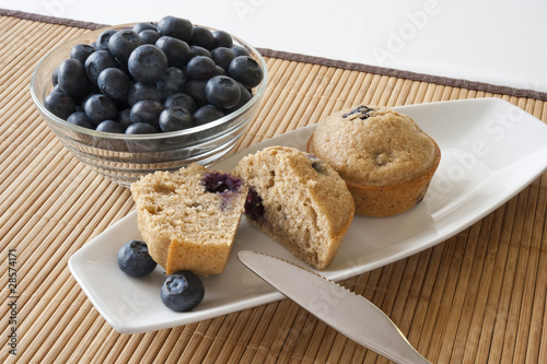 Blueberry Mufin and Blueberries