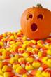 Suprised Jack-o-lantern with Candy Corn