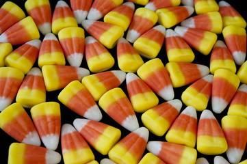 Candy Corn on Black