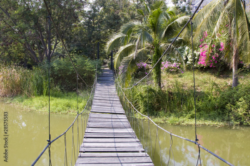 Suspension bridge in Thailand