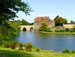 View of Leeds Castle and moat, England