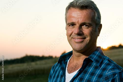 Mature man outdoor portrait