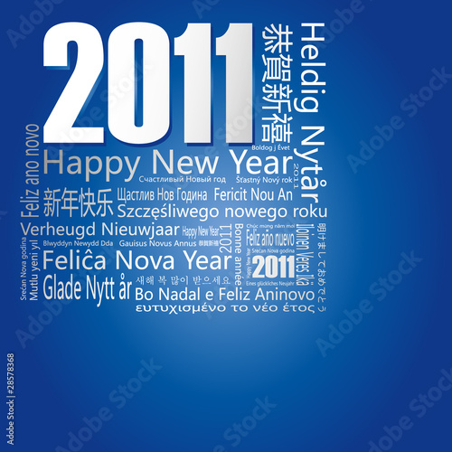 "28 languages said ""Happy New Year"" in 2011."