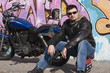 A Motorcycle Rider and his Custom Bike