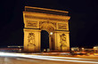 The Arc de Triomphe at night, Paris