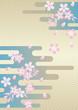 桜と和風背景