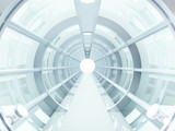 tunnel futuristic poster