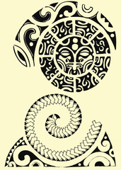 maori tribale spirale
