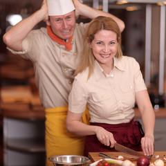 Team in der Küche