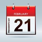 Presidents day calendar poster