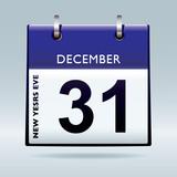 New years eve calendar blue poster