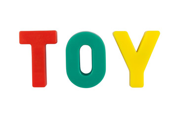 "Colored word ""TOY"""
