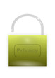 Privacy padlock (vector graphics)