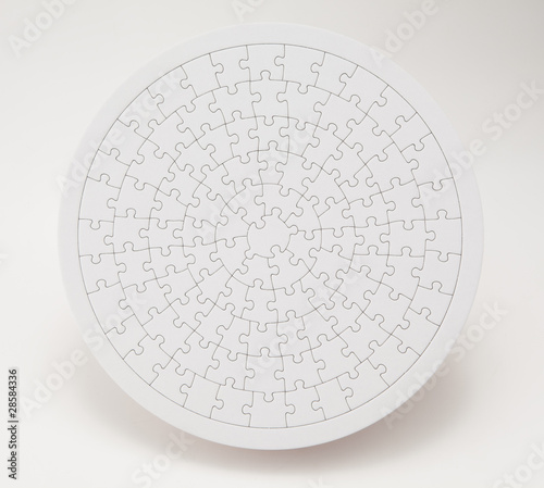 Round shaped jigsaw puzzle