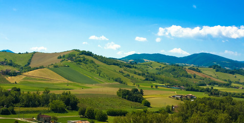 Beautiful italian hills landscape