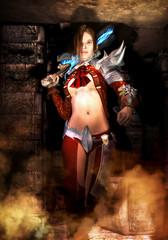fantasy adventurer girl