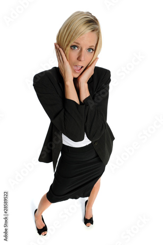 Businesswoman expressing stress